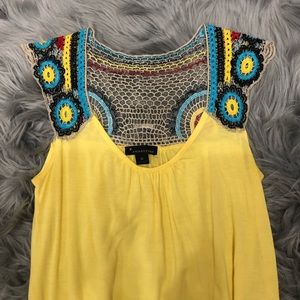 Boho style top with crochet detail small